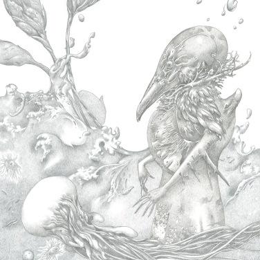 "Warm Sea, 2014, silverpoint, 11"" x 8"""