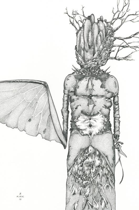 Sinistral Sister, 2014, ink