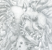 """Detail from """"Flowers of Wisdom"""""""