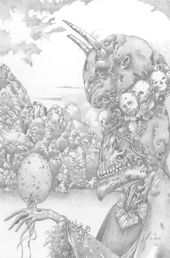 """Ptah, 2015, silverpoint, 9"""" x 6"""""""